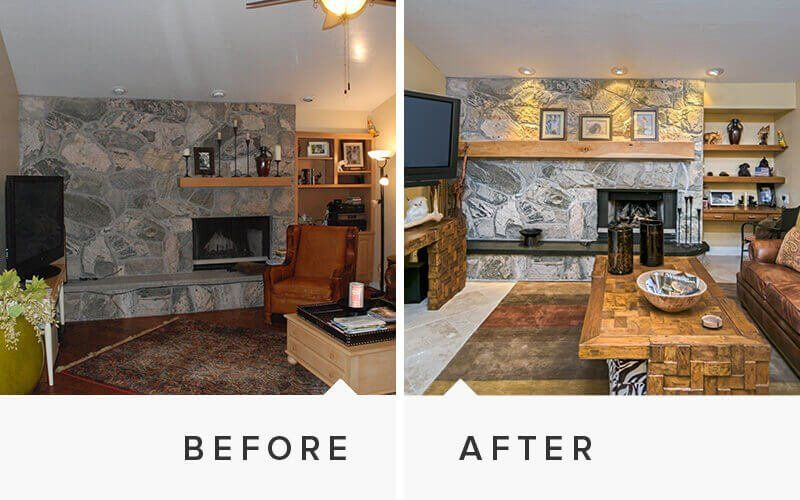 Home remodeling before and after photos for Before and after home remodel