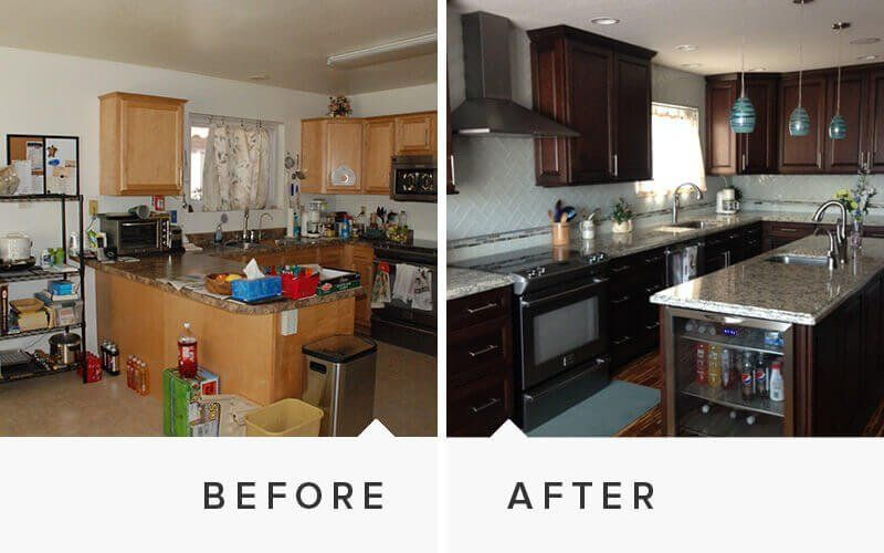 Home remodeling before and after photos for Renovation projects before and after