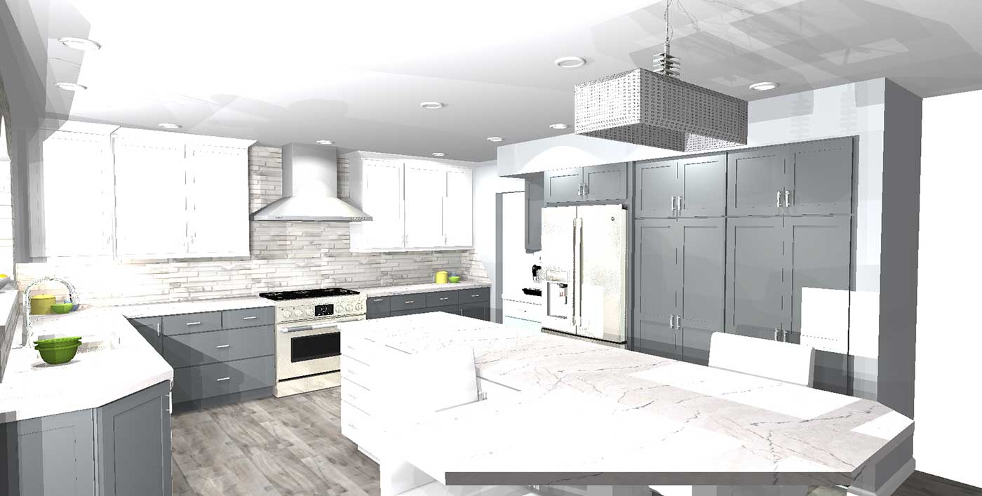 Renderings Of The Final Product For Pamela's Kitchen 1
