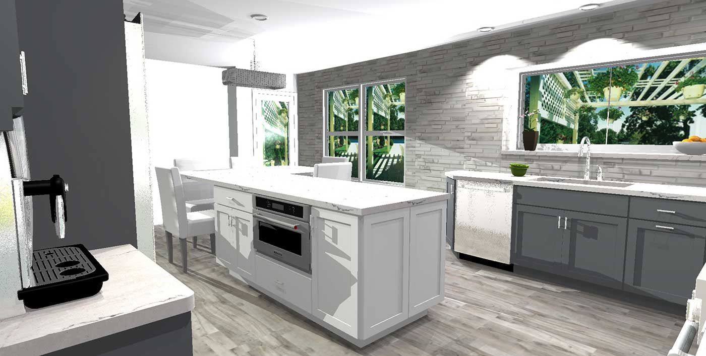 Renderings Of The Final Product For Pamela's Kitchen 2